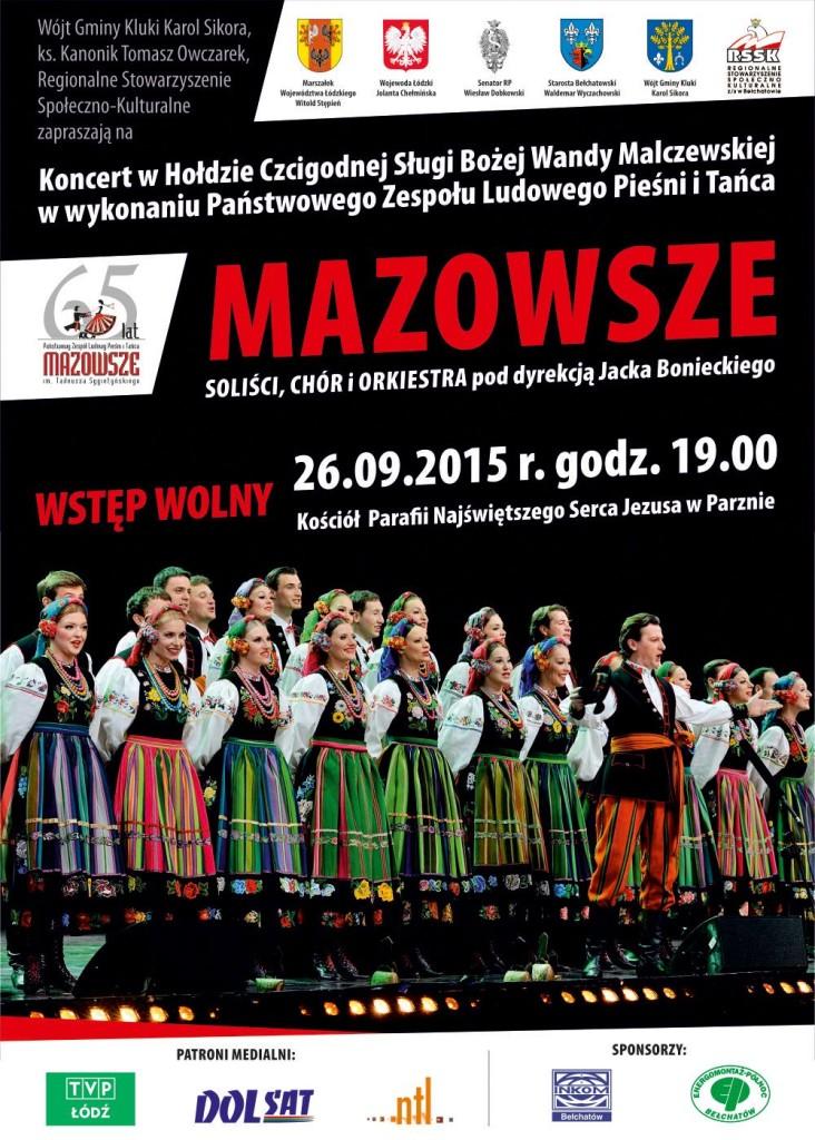 Plakat Koncert Mazowsze Q Gmina Wola Krzysztoporska