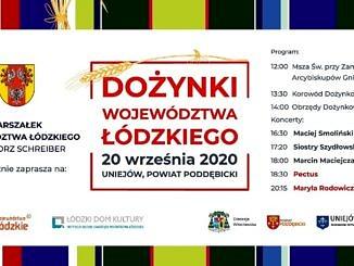 Plakat Dożynki Województwa Łódzkiego treść w informacji