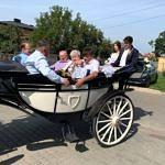 Dożynki Parafialne 2020 w Milejowie - przejazd bryczką