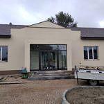 Front budynku - elewacja i zagospodarowywanie terenu przed budynkiem
