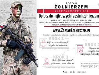 Plakat Zostań Żołnierzem dołącz do najlepszych