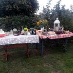 stół z dożynkowym jadem