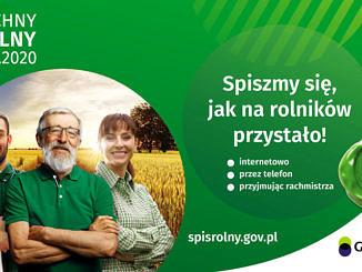 Powszechny Spis Rolny 2020 - Spiszmy sie jak na rolników przystało plakat