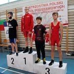 Mistrzostwa Polski Szkół Podstawowych U15 w zapasach w stylu klasycznym - zawodnicy na podium