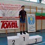 Mistrzostwa Polski Szkół Podstawowych U15 w zapasach w stylu klasycznym - zwodnik na podium