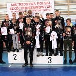Mistrzostwa Polski Szkół Podstawowych U15 w zapasach w stylu klasycznym - grupa zawodników AKS Piotrków