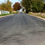 Droga Rokszyce - Oprzężów - nowy asfalt