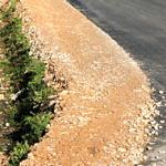 Droga Rokszyce - Oprzężów - utwardzone pobocze
