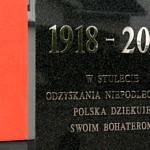 Pomnik w Woli Krzysztoposkiej - 1918 - 2018 W stulecie odzyskania niepodległości Polska dziękuje swoim Bohaterom