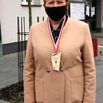 Małgorzata Gniewaszewska z medalem VIII Biegu Niepodległości