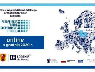 Baner: Europejskie Forum Gospodarcze – Łódzkie 2020 online 2 - 4 grudnia 2020 r.