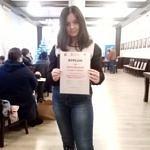 Oliwia Banasiak z dyplomem za zdobycie II miejsca