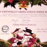 Certyfikat Grzecznego Dziecka