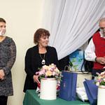Spotkanie promocyjne w Woźnikach - autorki i Ryszard Cieślak