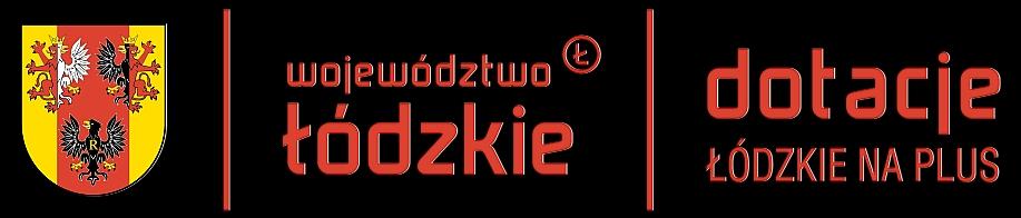 Logo: województwo łódzkie, dotacje na plus