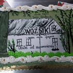 Tort w kształcie okładki do książki