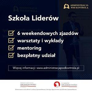 Plakat szkoła liderów - treść jak w informacji
