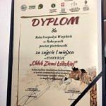 """Dyplom dla KGW Rokszyce za zajęcie I miejsca w konkursie """"Chleb Ziemi Łódzkiej"""""""