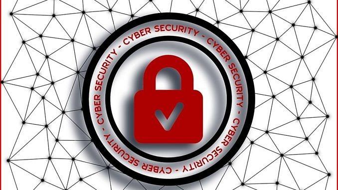 Plakat: Bezpieczne zachowania w sieci - bezpłatne szkolenia; sieć, a na jej tle czerwona kłódka