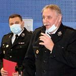 Wojciech Kamiński i Grzegorz Konecki - strażacy