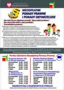 Plakat - porady prawne i porady obywatelskie