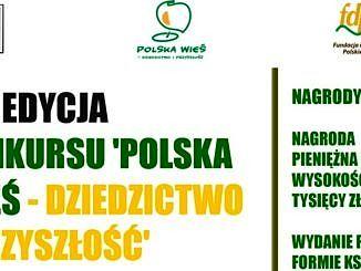 """Plakat - konkurs """"Polska Wieś - Dziedzictwo i Przyszłość"""