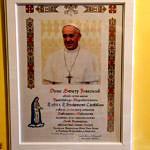 Obrazek z gratulacjami od papieża Franciszka