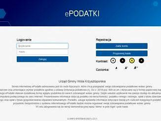 screen ze strony tytułowej platformy ePodatki