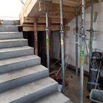Budowane betonowe schody