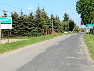 zniszczony asfalt - droga Siomki - Krzyżanów