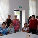 Członkinie KGW w sali Domu Ludowego w Mąkolicach
