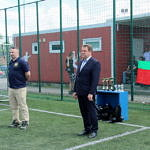Tomasz Woźniak - organizator turnieju i wójt Roman Drozdek
