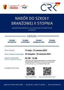 Plakat nabór do szkoły branżowej II stopnia
