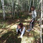 zabawy zręcznościowe w lesie