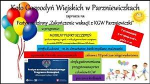 Plakat - festyn Parzniewiczki kolorowe baloniki