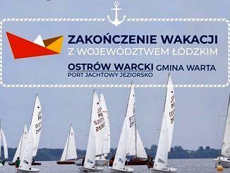 Żaglówki na jeziorze - zakończenie wakacji plakat