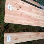 Drewniany blat z naklejką