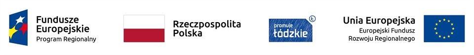 Logo - Fundusze Europejskie, Rzeczpospolita Polska, promuje ŁÓdzkie, Unia Europoejska Europejski Fundusz Rozwoju Regionalnego