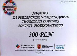 Voucher z nagrodą 300 zł dla KGW Woźniki