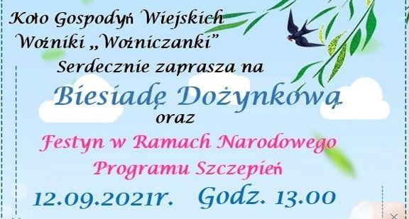 Plakat - na niebieskim tle zaproszenie jak w treści informacji