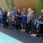 Grupa osób - orgnizatorzy i uczestnicy turnieju