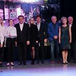 Organizatorzy i wójt na scenie