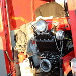stara pompa na samochodzie strażackim