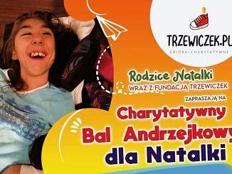 Plakat - niepełnosprawna dziewczynka - bal charytatywny dla Natalki